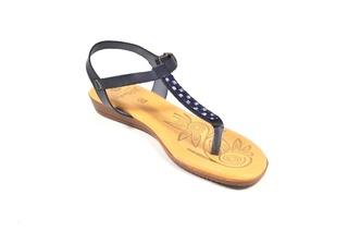 Sandale albastru inchis Hembra din piele naturala