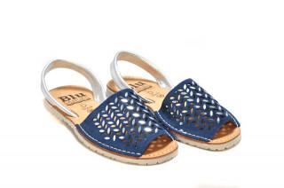 Sandale Avarca Erin navy, piele naturala