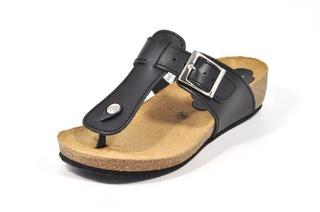 Sandale negre Morxiva, din piele naturala