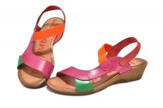 Sandale multicolore Xusandalia din piele naturala