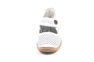 Pantofi albi din piele naturala TOPWAY DP12