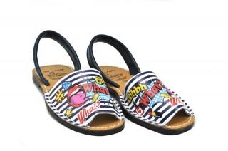 Sandale Avarca What, din piele naturala