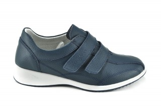 Pantofi albastri din piele naturala Riana