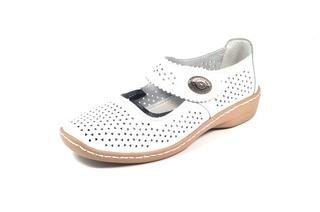 Pantofi albi din piele naturala TOPWAY