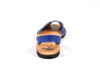 Sandale albastre Avarca, din piele naturala