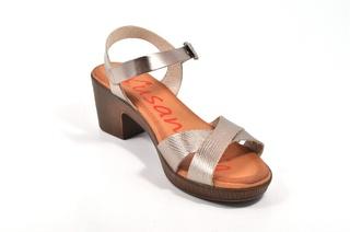 Sandale argintii Xusandalia, din piele naturala DS67