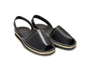 Sandale Avarca Abigail black, piele naturala