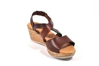 Sandale maro Tristan, din piele naturala