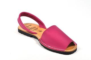 Sandale roz - fuxia Avarca, din piele naturala