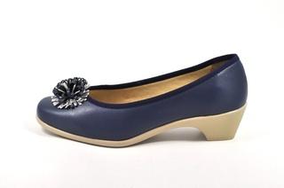 Pantofi albastru inchis Amelie, din piele naturala