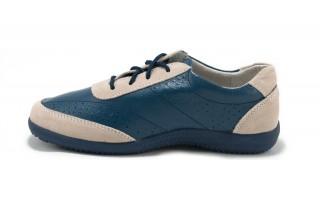 Pantofi albastri din piele naturala TOPWAY DP8