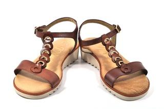 Sandale maro In shoes, din piele naturala
