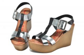Sandale negru - argintii Xusandalia din piele naturala