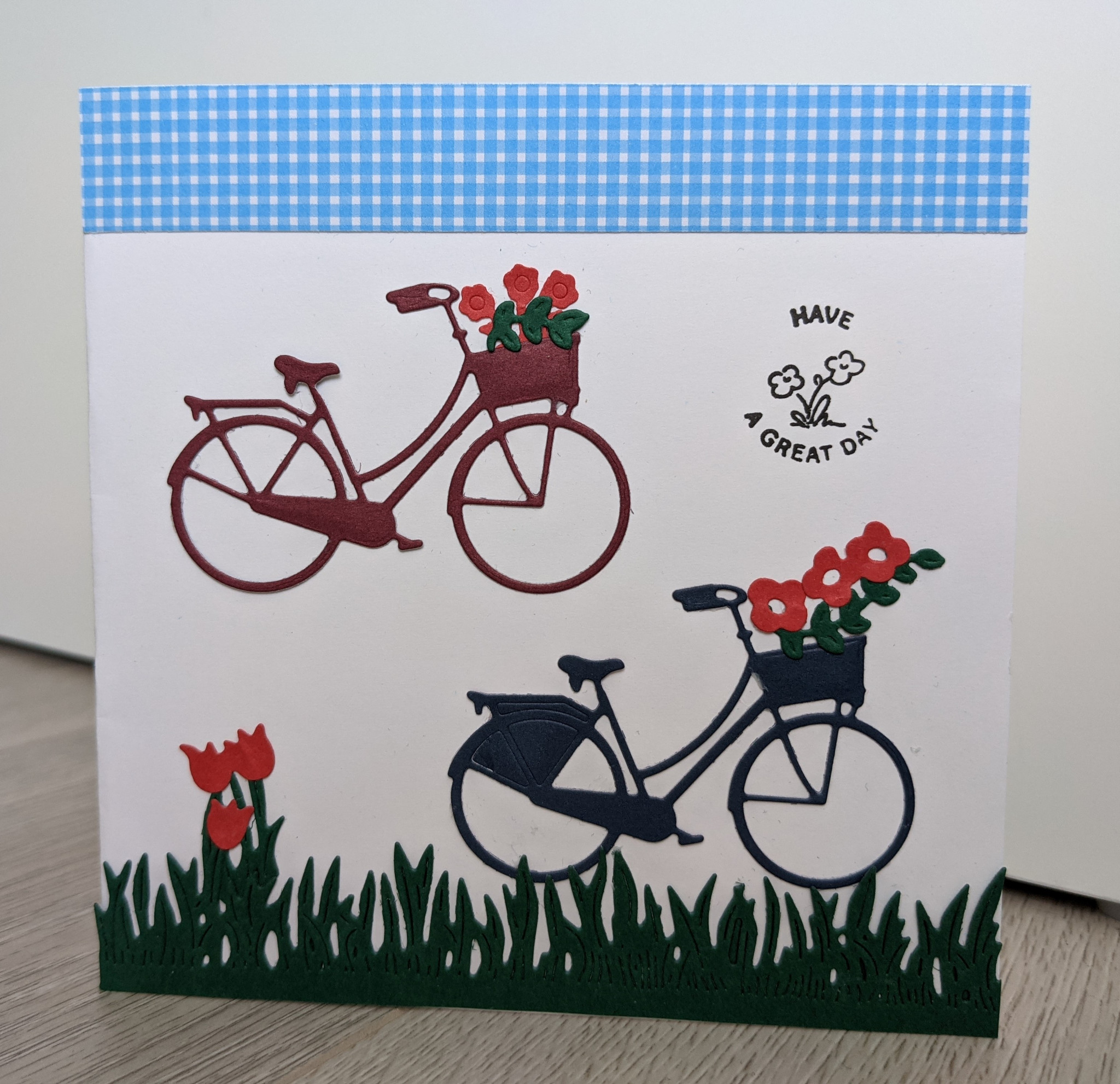 Kaart met fietsjes