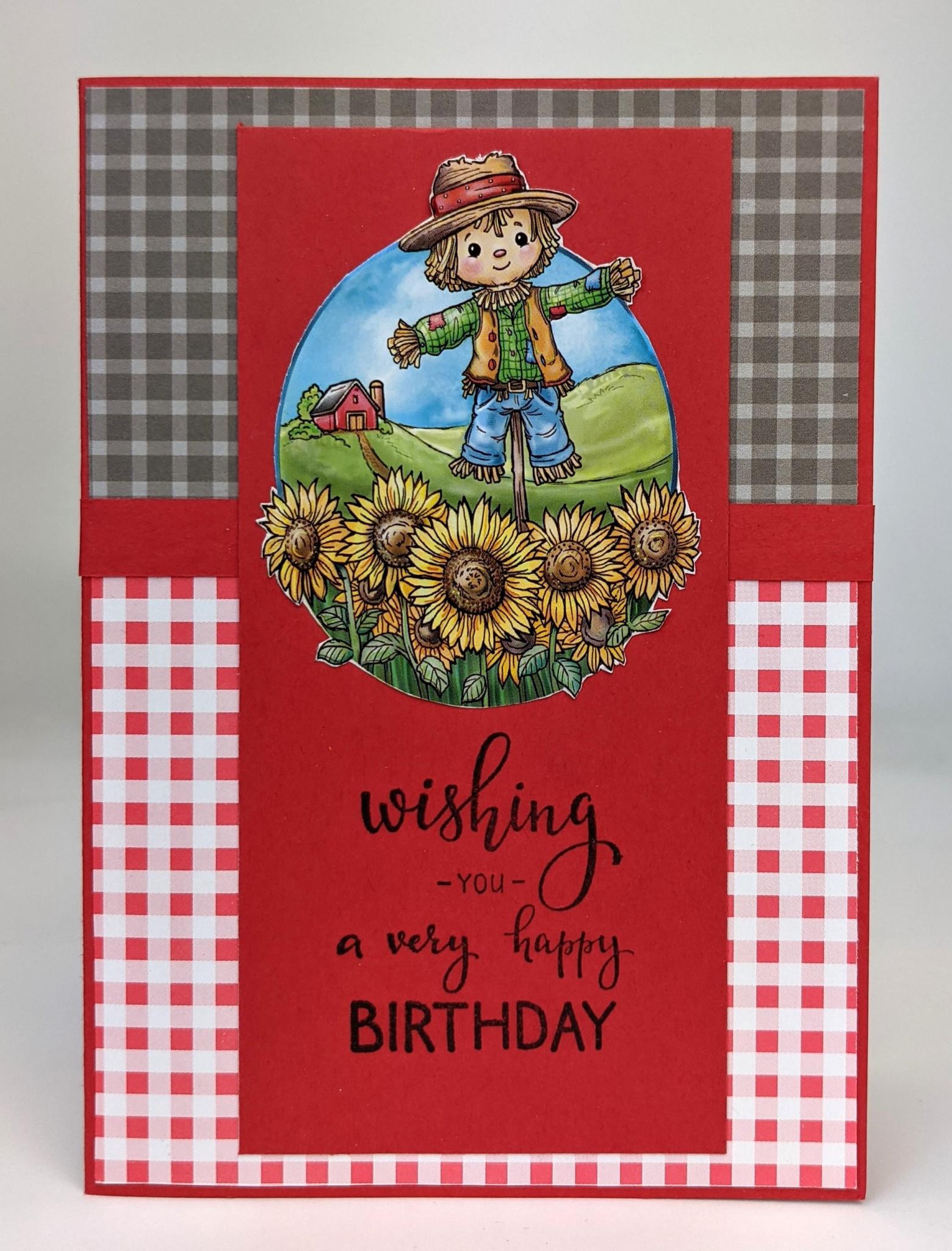 Verjaardagskaart in Country Style