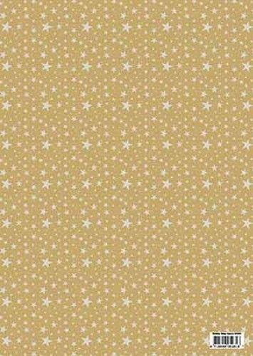 Achtergrondvel A4 kerst goud HI3089 (Locatie: 2888)