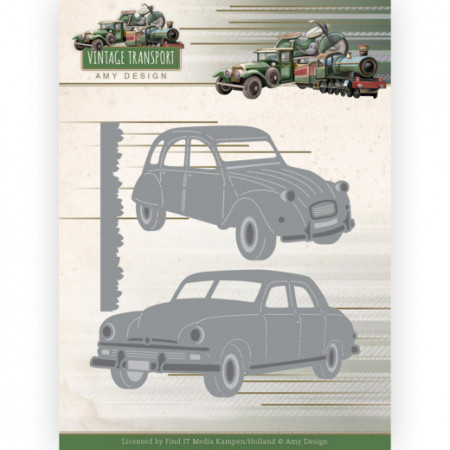 Amy Design snij- en embosmal Vintage Transport - Cars ADD10250 (Locatie: T137)