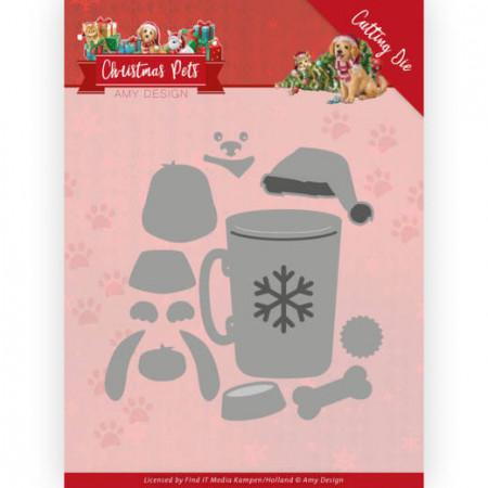 Amy Design snijmal Christmas Pets - Christmas Dog ADD10213 (Locatie: M041)