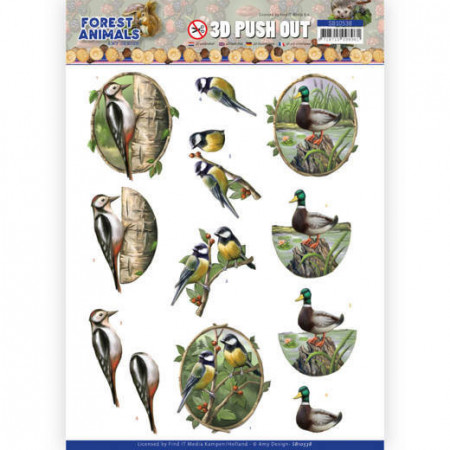 Amy Design stansvel Forest Animals - Woodpecker SB10538 (Locatie: 1721)