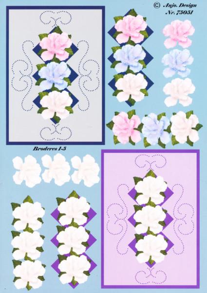Anjo. Desgin knipvel bloemen 75051 (Locatie: 1221)