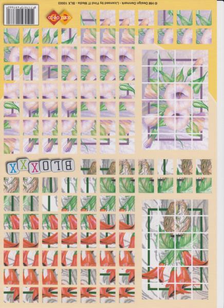 Card Deco knipvel bloxxx bloemen BLX 10001 (Locatie: 2767)