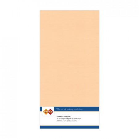 Card Deco linnen karton 13.5 x 27 cm, zalm, 10 stuks