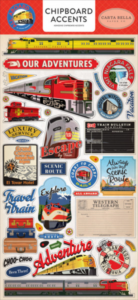 Carta Bella Chipboard All Aboard 15 x 30 cm CBAA101021 (Locatie: 2939)