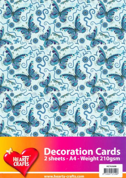 Decoratievel vlinders 2 vel / 210 gram HC763608 (Locatie: 4209)