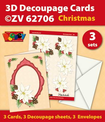 Doodey kaartenpakket om 3 kerstkaarten te maken ZV62706 (Locatie: 4415)