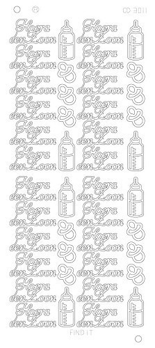 Find It stickervel glanzend zilver zoon CD3011 (Locatie: u229)