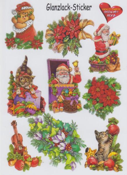 Glanssticker kerstmis, A4, 08 (Locatie: 2242)