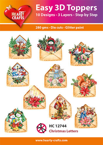 Hearty Crafts Easy 3D Toppers Christmas Letters HC12744