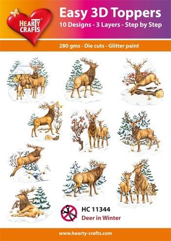 Hearty Crafts Easy 3D Toppers Deer in Winter HC11344 (Locatie: K2)