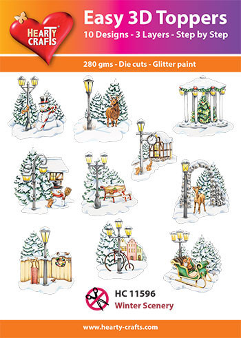 Hearty Crafts Easy 3D Toppers Winter Scenery HC11596 (Locatie: K2)