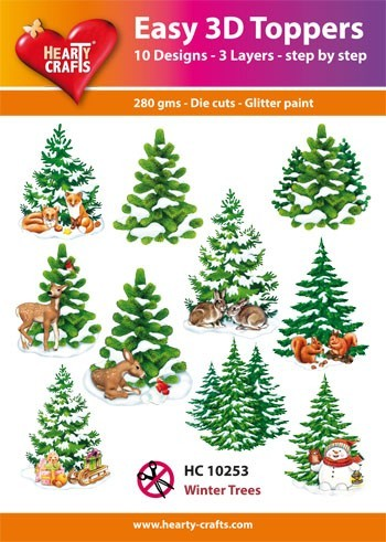 Hearty Crafts Easy 3D Toppers Winter Trees HC10253 (Locatie: K2)