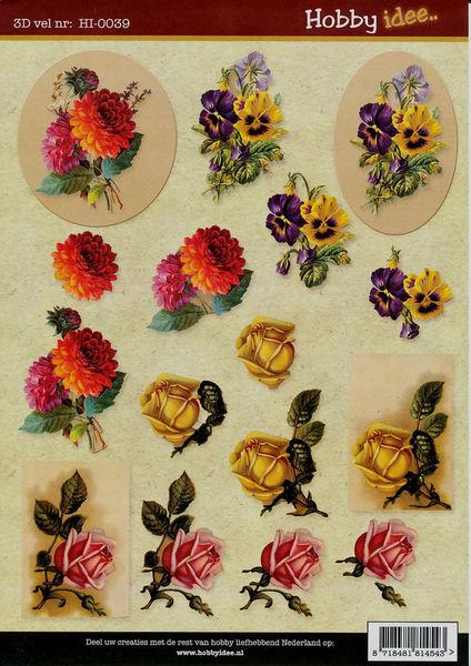 Hobby Idee knipvel bloemen HI-0039 (Locatie: 5702)