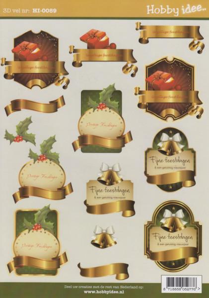 Hobby idee knipvel kerst HI-0089 (Locatie: 1435)