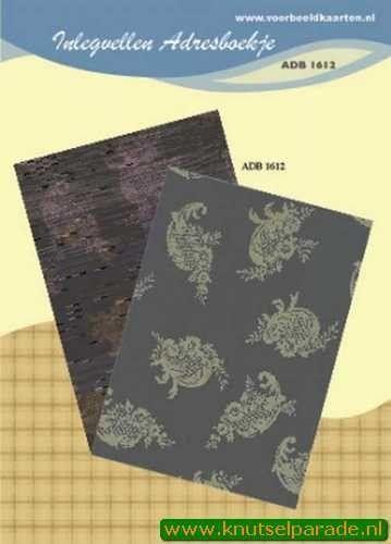 Inlegvellen adresboekje ADB 1612 (Locatie: D33 )