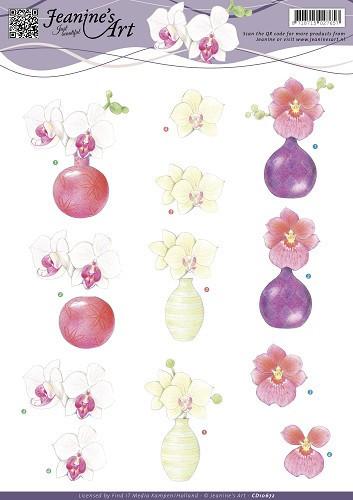 Jeanine's Art knipvel bloemen CD10672 (Locatie: 2731)
