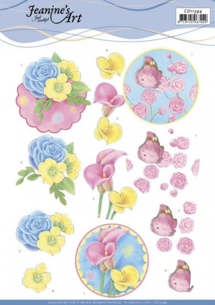 Jeanine's Art knipvel bloemen CD11394 (Locatie: 4616)