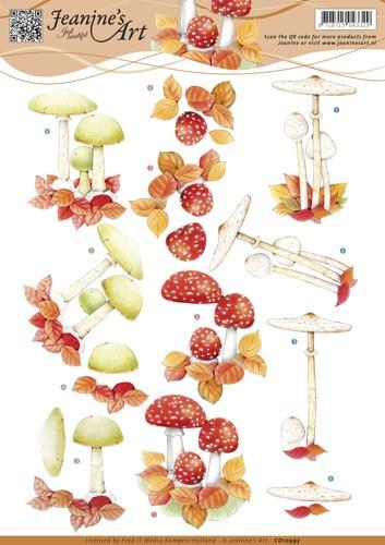 Jeanine's Art knipvel herfst paddenstoelen CD10993 (Locatie: 4541)
