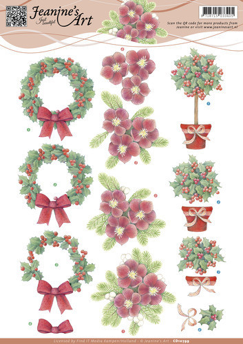 Jeanine's Art knipvel kerstmis CD10799 (Locatie: 4305)