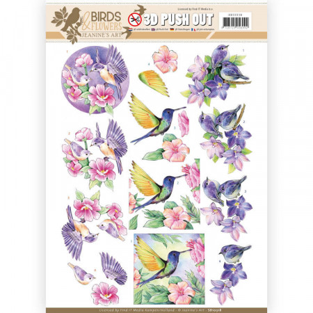 Jeanine's Art stansvel Birds & Flowers SB10318 (Locatie: 5610)