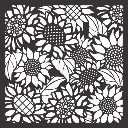LDRS Creative stencil Sunflower 15 x 15 cm LDRS3260 (Locatie: 1516)