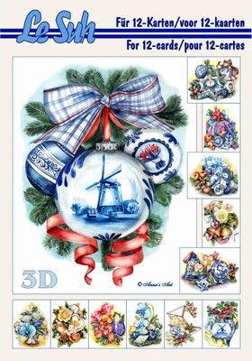 Le Suh boekje A5 Kerstballen met molen 345662 (Locatie: KB)