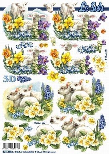 Le Suh knipvel bloemen/ lammetjes 8215655 (Locatie: 5824)