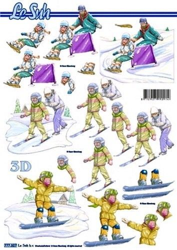 Le Suh knipvel skiën 777327 (Locatie: 0921)
