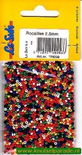 Le Suh kralen mix rocailles 2,5 mm, 20gr. 134099 (Locatie: K3)