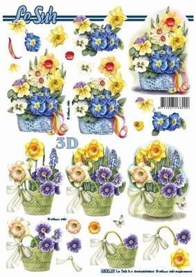 Le Suh stansvel mand met bloemen 680069 (Locatie: 0637)