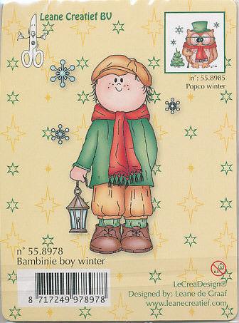 Leane Creatief clear stamp Bambinie boy winter 558978 (Locatie: E321)